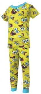 Nickelodeon   SpongeBob Goofy Faces Pajamas for boys (4) Clothing