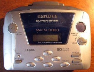Aiwa HS TX406 AM FM Portable Cassette Player: MP3 Players & Accessories