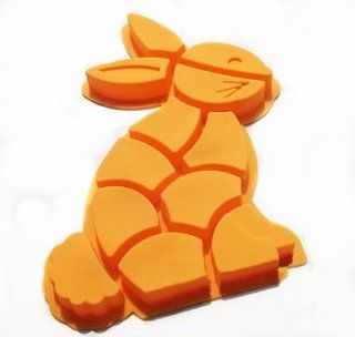 Wholeport DIY Silicone Baking Mold Cake Mold Mould Muffin Cups Rabbit Design   Candy Making Molds