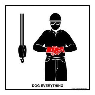 Dog Everything Label CRANE 407 Crane Hand Signals : Business And Store Signs : Office Products