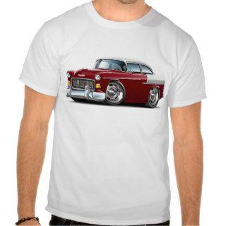 1955 Chevy Belair Maroon White Car Tee Shirt
