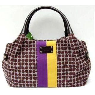 Kate Spade Classic Noel Stevie Handbag Bag Purple Yellow: Clothing