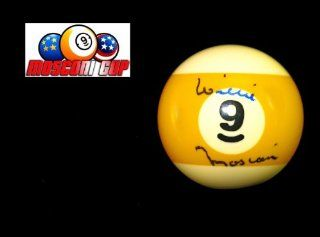 Willie Mosconi Signed #9 Pool Ball: Sports Collectibles