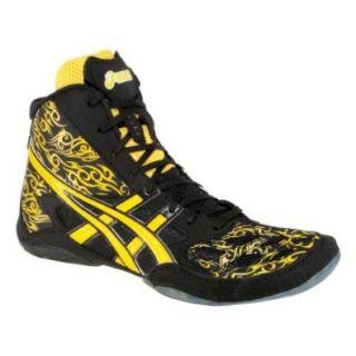 Asics Split Second 9 LE   TATOO   Wrestling Shoes   Black/Yellow Shoes