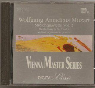 Wolfgang Amadeus Mozart Sreichquartette Vol. 2 (String Quartets in E flat major K 428 / C major K Ann. IV / B flat major K 458 / E flat major K Ann. IV)   Vienna Master Series Digital Classic Music