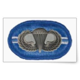 Jump wings on 2/502 inf Oval Stickers