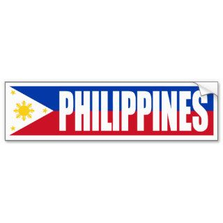 Philippines Flag Bumper Stickers