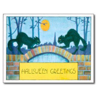 Black Cat Full Moon Postcards