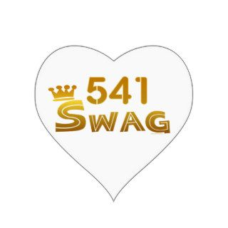 541 Oregon Swag Heart Stickers