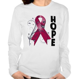 Sickle Cell Anemia Floral Hope Ribbon Tee Shirt