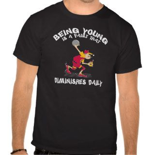 Funny Old Grandpa Bowler Black T Shirt