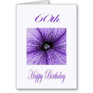 Happy 60th Birthday purple Blossom Greeting Card