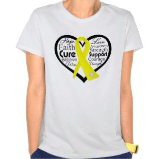 Bladder Cancer Heart Ribbon Collage T shirt