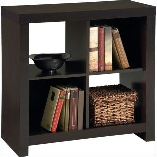 Ameriwood Hollow Core 4 Cube Storage in Black Forest   7637012YCOM