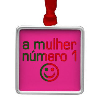 A Mulher Número 1   Number 1 Wife in Portuguese Christmas Ornament