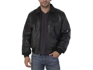 Alpha Industries Men's Leather CWU 45/P Flight Jacket   Brown M