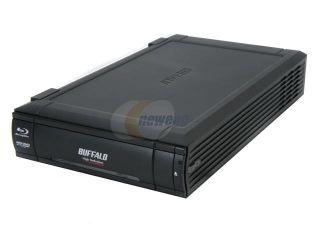 BUFFALO Black 6X BD R 2X BD RE 16X DVD+R 6X BD ROM USB 2.0 External Blu ray Burner BRHC 6316U2