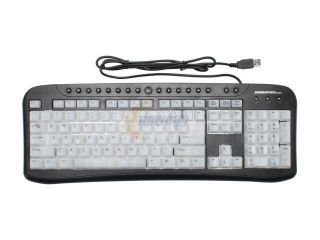 Sunbeam EL KB 03 BK U Black/White 104 Normal Keys 17 Function Keys USB Standard Illuminated Keyboard