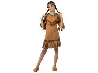 Girls Little Pow Wow Indian Girl Costume   Native American Indian Costumes