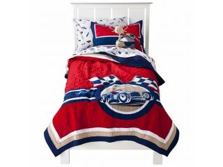Circo Vintage Car Collection Stitched Full Queen Quilt & Shams Set Comforter