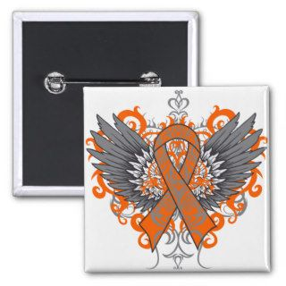 Multiple Sclerosis Awareness Wings Button