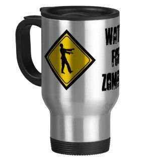 Funny Zombie Crossing Sign Coffee Mug