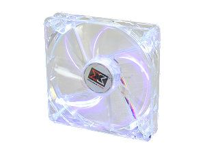 XIGMATEK Cooling System Crystal Series CLF F1455 140mm Purple LED Case Fan PSU Molex Adapter/extender included