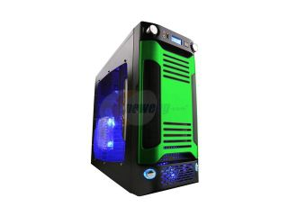 APEVIA X SNIPER G Type X SNIPERG GN Black / Green SECC Steel ATX Mid Tower Computer Case