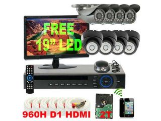 (add 1TB HDD)SANNCE P2P HDMI 8Channels H.264 QR Code Scan DVR +4*480TVL Dome Day/Night Vision Cameras Smartphone Viewing Surveillance CCTV kits Home Security System