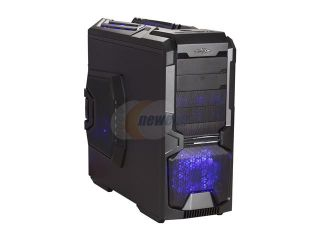 Sentey Extreme Division GS 6600 Wolf Black 1mm SECC ATX Full Tower Computer Case with 2 x USB 3.0, 6 x LED Fans Included, Tool Less