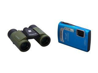 OLYMPUS Outdoor Adventure Pack: Tough TG 320 Digital Camera + Roamer 8 x 21 RC II Waterproof Binoculars