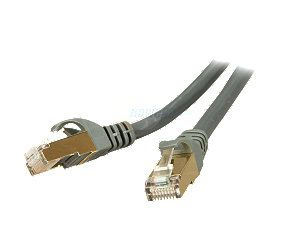 Rosewill RCW 100 CAT7 GE 100 ft. Cat 7 Grey Color Shielded Twisted Pair (S/STP) Networking Cable