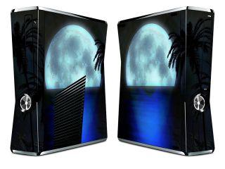 Bundle Monster Vinyl Skin Sticker for Xbox 360 S Slim   Blue Moon