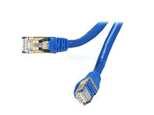 Rosewill RCW 25 CAT7 BL 25 ft. Cat 7 Blue Color Shielded Twisted Pair (S/STP) Networking Cable