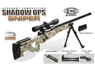 UTG L96 (MK96) Airsoft Sniper Rifle W/Extras   Shadow Ops Spring Powered Airsoft Fires 465 FPS W/Bipod + 2,000 Free BBs *Super Sale*