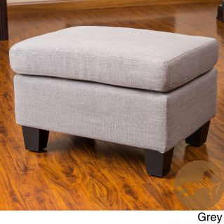 Christopher Knight Home Rosella Fabric Ottoman (100 percent Polyester fabricColor options: Linen beige, chocolate brown, ash greyFeatures a plush pillow topUse for additional seating or as a foot restGreat for small spacesDimensions: 16 inches high x 24 i