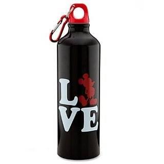Disney Mickey Mouse Love Heart Valentine Aluminum Water Bottle 24 oz.