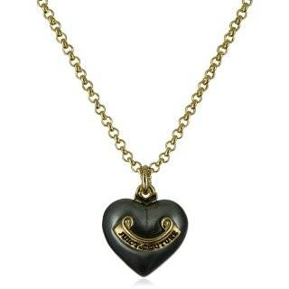 Juicy Couture Jewelry Pearl Heart with Banner Wish Necklace Gold
